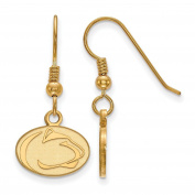Roy Rose Jewellery Sterling Silver with 14K Yellow Gold-plated LogoArt Penn State University X-small Dangle Earrings
