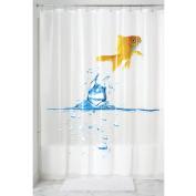mDesign Goldfish PVC-Free 5G PEVA Shower Curtain - 180cm x 180cm , Multi