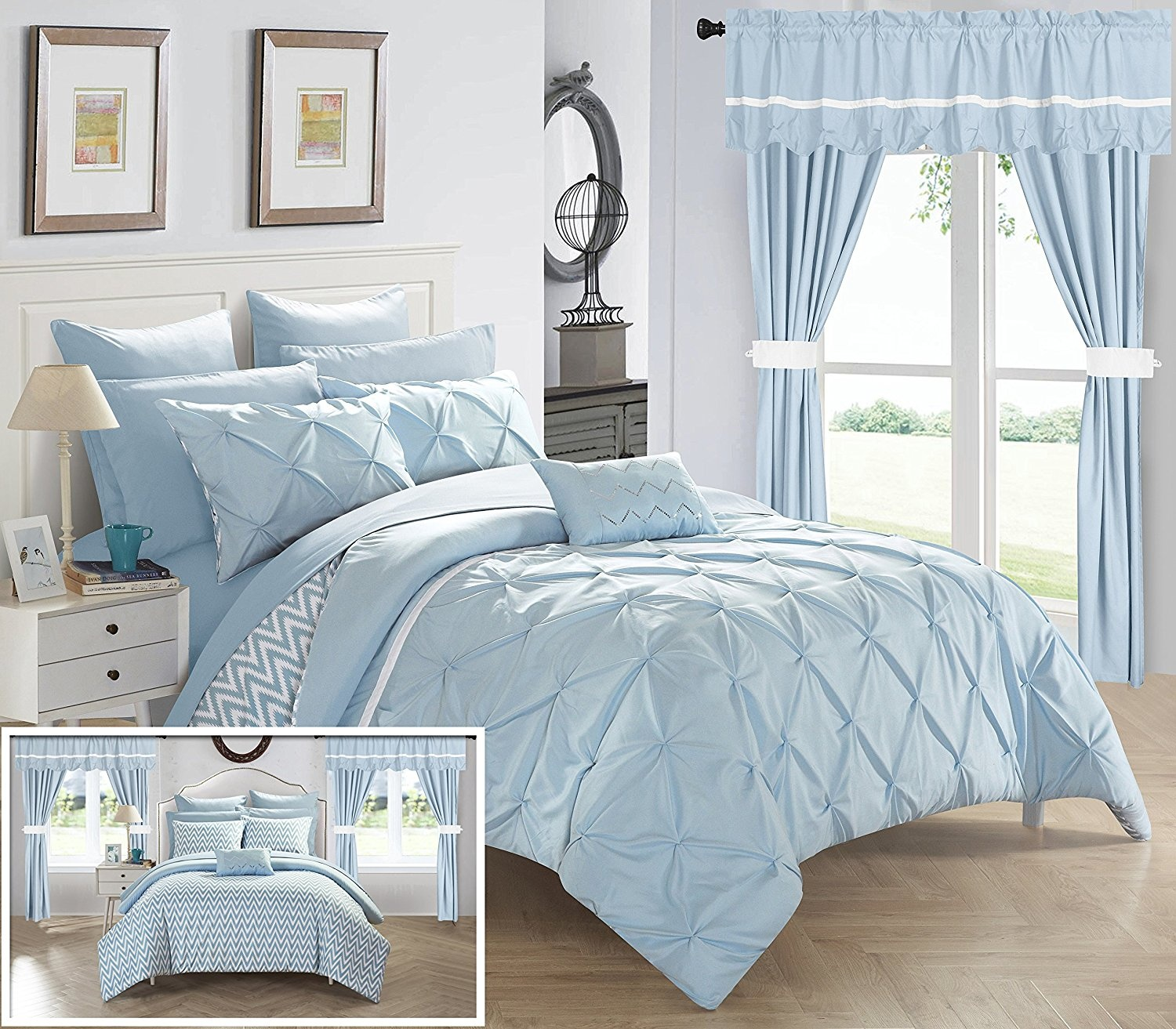 Queen-Blue-Chic-Home-CS0589-AN-20-Piece-Jacksonville-Complete-Bed-Room-In