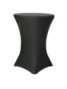 Your Chair Covers 90cm Highboy Cocktail Round Stretch Spandex Table Covers, Black
