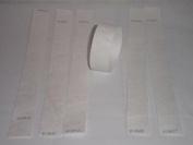 100 White Tyvek Wristbands