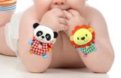 Hand Wrist Baby Toys Soft Infant Strap Rattles Developmental Toys