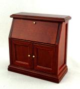 Melody Jane Dolls Houses House Miniature Study Office Furniture Mahogany Secretary Bureau Desk 1:12