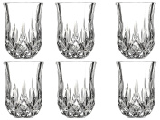 Le'raze Posh Crystal Collection Shot Glass Perfect for serving Scotch, Whiskey, Tequila, or Vodka