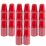 200pc Red Cup Mini Party Shot Glasses Set (60ml) Great for Parties, Picnics, Tailgates, BBQ's, and Super Bowl Parties!