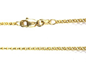 "14Kt 14K Yellow 16"" 18"" 20"" 24"" 1.5mm Rolo Necklace Chain Lobster Clasp"