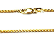 """14Kt 14K Yellow 16 18 20 24"""" Solid Gold 1.7mm Round Wheat Necklace Chain Lobster"""