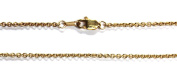 """18Kt 18K Yellow Solid Gold 16"""" 1.7mm Cable Necklace Chain Lobster Clasp"""