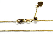 """14kt 14K Yellow Solid Gold .9mm Cable Necklace Chain Adjustable up to 22"""""""