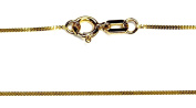 """14Kt 14K Yellow Gold 18"""" .7mm Dainty Curb Necklace Chain W/ Spring Ring"""