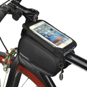 ieGeek Roswheel Cycling Frame Bag, Head Tube Bag, Front Top Tube Frame Pannier Double Bag Pouch Holder Crossbar Bag for iPhone 7 6/6s Plus Samsung Galaxy S7 S6 Plus Google Nexus