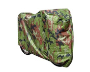 DSstyles Bicycle Cover - 190T Nylon Heavy Duty Waterproof Dustproof Bike Cover for Mountain Bike, Road Bike Protection Garage for Outdoors / Indoors, Adjustable Rain Cover with a Drawstring Storage Bag - Camouflage