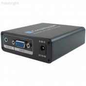 VGA with Stereo Audio to HDMI Converter - Polebright update