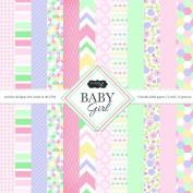 Scrapbook Customs Themed Paper Scrapbook Kit, Baby Girl
