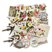 FaCraft Scrapbooking Stickers Ephemera Embellishments Die-Cut Pack,Happy Valentine's Day,25 Pieces Assorted Decorative Paper