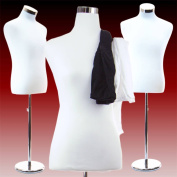 Male Dress Form Torso with Round Metal Stand
