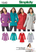 SIMPLICITY 1540 MISSES & PETITE JACKET 2 LENGTHS W/ COLLAR VARIATIONS (SIZE 6-14) SEWING PATTERN