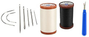 7pc Upholstery Needles with 2 Coats & Clarks Thread spools and a Seam Remover