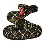RATTLESNAKE Diamond Back Embroidered Iron on or sew on Patch/Applique 7.6cm