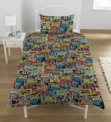 "Dr Who ""Comic"" Duvet Set, Multi-Colour, Single"