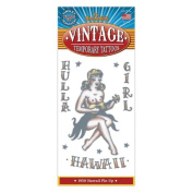 1950 Hula Girl Design Vintage Type Temporary Tattoo