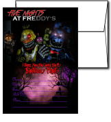 12 FIVE NIGHTS AT FREDDY'S Birthday Invitation Cards (12 White Envelops Included) #2