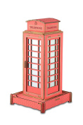 3D Jigsaw Puzzles Britain Telephone Booth Assembly Woodcraft Kids Toy Birthday gift