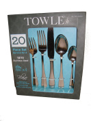 Towle Blaine 20 Piece Set Service For 4 18/10 Stainless Steel