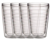 Boston Warehouse 470ml Insulated New Tumblers -Clear, Set of 4