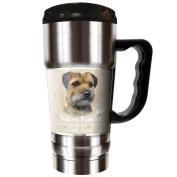 The CHAMP - 590ml Travel Tumbler - Border Terrier