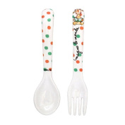 Baby Cie Imagine The World Textured Fork & Spoon, Multicolor