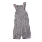 Tangc Newborn Baby Infant Knitted Mohair Rompers Overalls Photography Props Outfits