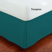 Fancy Collection Queen Size Easy Care Tailored Microfiber 36cm Bed Skirt Solid Turquoise New