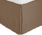 Fancy Collection California King Size Easy Care Tailored Microfiber 36cm Bed Skirt Solid Taupe