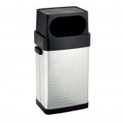 UltraHD Fingerprint Resistant Stainless Steel Trash Can, 64.4l