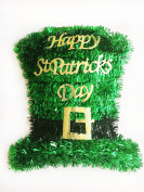 St. Patrick's Day Tinsel Hat Wall Decoration