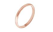 Solid14K Gold 2MM Comfort Fit Men & Women Wedding Band Ring