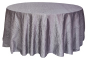 Your Chair Covers Round Crinkle Taffeta Tablecloths, 300cm , Dark Silver