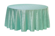 Your Chair Covers - 340cm Round Pintuck Taffeta Tablecloths Robin Egg, Round Table Linens for 1.8m Round Tables
