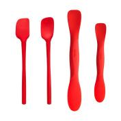 Tovolo All Silicone Mini Tool Set, Candy Apple - Set of 4
