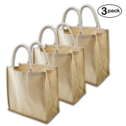 Simple Ecology Organic Canvas & Jute Reusable X-Large Tote & Grocery Bag - 3 Pack