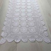 Factory Direct Craft Hand Crafted 100% Cotton White Crocheted Doily Runner for Home Decor, Crafting and Displaying