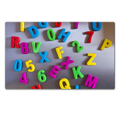 Luxlady Natural Rubber Large Table Mat Image ID 27728771 Colourful magnetic letters on refrigerator