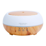Aromatherapy Essential Oil Diffuser, ASAKUKI 300ml Ultrasonic Cool Mist Humidifier - Touch Sensitive, 7 Colours LED Light Changing and Waterless Auto-off for Office, Home, Bedroom, Spa, Baby-Wood Grain