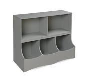 Badger Basket Multi-Bin Storage Cubby, Grey