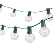 7.6m Indoor/Outdoor Weatherproof Party String Lights with 25 Sockets Light Bulbs Included