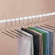 12 Piece Set Jobar Slacks Hangers Open Ended Pants Easy Slide Organisers - NEW