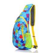 Qflmy Waterproof Casual Cross Body bag Outdoor Sling Chest Pack for Cycling Hiking Camping Travel