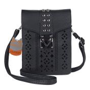 MINICAT Women Hollow Texture Series Crossbody Bag Cell Phone Purse Wallet
