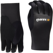 Mares Smooth Skin 35 Diving Gloves-Black/Black, Small